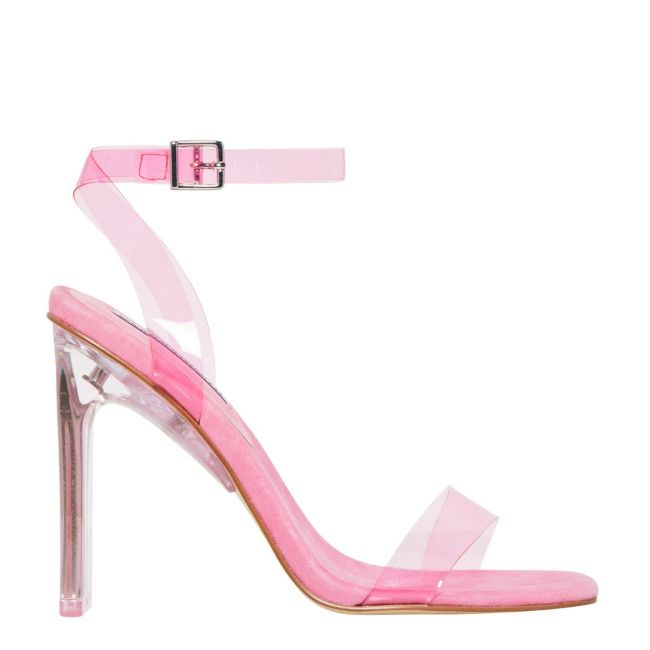 Fancy Neon Pink Square Toe Perspex