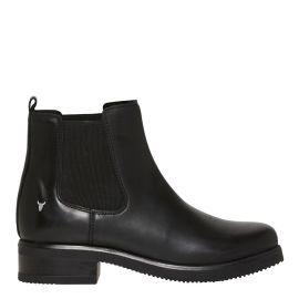 ALISE BLACK LEATHER BOOT