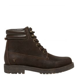 brown ankle boot with padded collar