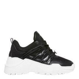 Windsor smith black chunky sneaker