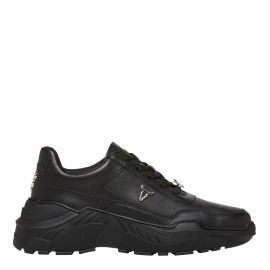 Carte - women's black chunky 90s platform sneaker - side view - Windsor Smith