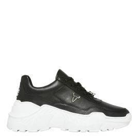 Womens black chunky sneaker