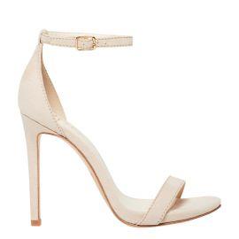 Coleta cashew micro suede stiletto heels