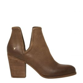 tan leather boots, cut out boots
