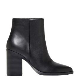 Women's black ankle boot - side view - Lipstik Shoes