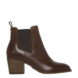 FAITH CHOCOLATE LEATHER BOOT