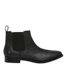 womens black gusset boot
