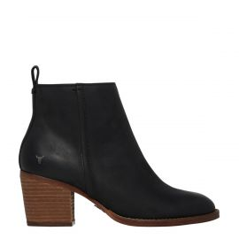 FLEUR BLACK LEATHER BOOT