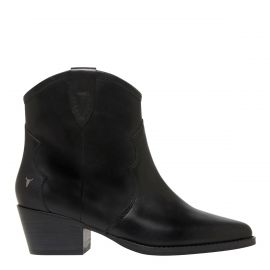 Black cowboy ankle boot - side view -  Windsor Smith shoes