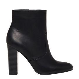 womens black high heel winter ankle boot