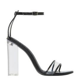 Women's non leather perspex high heel sandal - Lipstik Shoes Australia - Side view