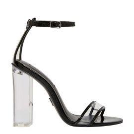 Women's clear perspex heel block heel shoes