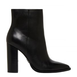 Women's Black Leather high heel boot