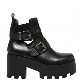 womens buckle biker boot