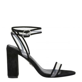 BLACK AND CLEAR HIGH HEEL