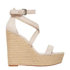 light coloured espadrille wedges