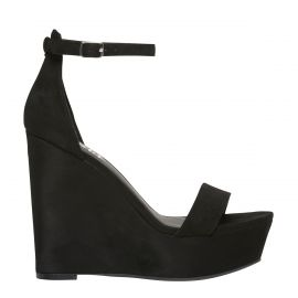 Women's Black Wedge Platform Shoes