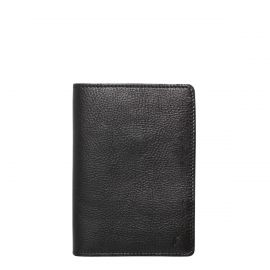 LANDON PASSPORT HOLDER BLK LEATHE one siz
