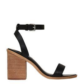 black high heel sandal