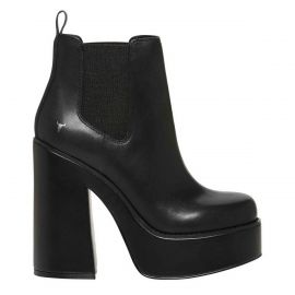 Windsor Smith block heel platform gusset boot