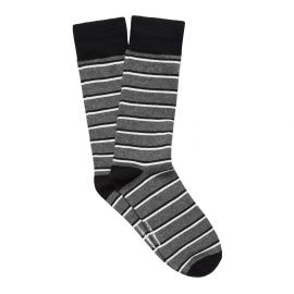MINI TWIN STR MEN'S DRESS SOCK CHARCOAL MARLE