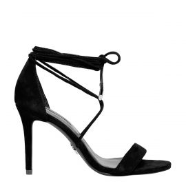 Windsor Smith black suede lace up stiletto heel