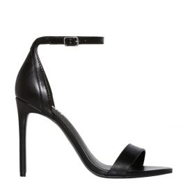Women's non leather stiletto sandal shoes - side angle - Lipstik Shoes