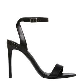Black stiletto high heel - side view - Lipstik Shoes
