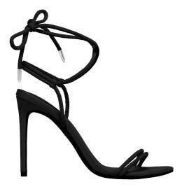 Women's black stiletto heels