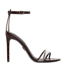 Red snake stiletto high heel - side view -  Windsor Smith