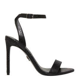Stiletto in black snake print texture