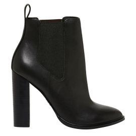 black high heel gusset boot