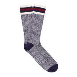 RIB KNIT MEN'S BOOT SOCK NAVY/OFF WHITE