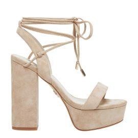 womens natural colour platform heels