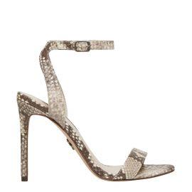 Sand snake print stiletto shoe