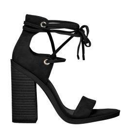 Black block heel womens sandal