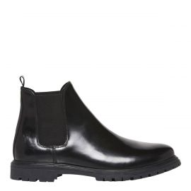Men's leather gusset boots