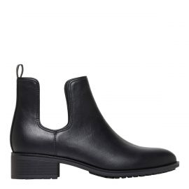 Women's black ankle boots - side view - Lipstik Shoes