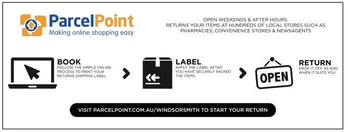 ParcelPoint Windsor Smith returns